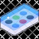 Color Palette Watercolor Box Coloring Box Icon
