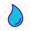Waterdrop Line Contour Icon