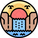 Waterfall Nature Landscape Icon