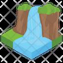 Waterfall Scenery Barrage Icon
