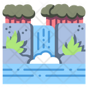 Waterfall Forest River Icon