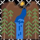 Waterfall Fall Water Icon
