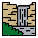 Waterfall Landscape Nature Icon
