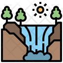 Waterfall Trees Water Icon