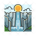 X Waterfall Icon