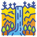 Waterfall Outdoors Scenery Icon