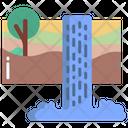 Waterfall Water Landscape Icon