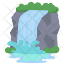 Waterfall River Water Icon