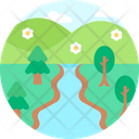 Waterfall River River Icon