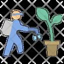 Watering Fermar Plant Icon