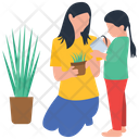 Plant Care Watering Plant Home Garden Icon