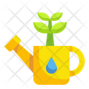 Watering Plant Gardening Water Can Icon