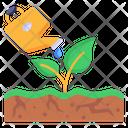Plantation Watering Plants Gardening Icon