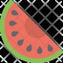Watermelon Slice Fruit Icon