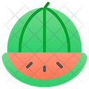Watermelon Fruit Vegetarian Icon