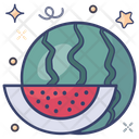 Watermelon Tropical Fruit Natural Food Icon