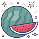 Watermelon Healthy Food Organic Fruit Icon