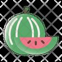 Watermelon Fruit Slice Icon