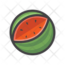 Watermelon Fruit Fresh Icon