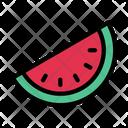 Watermelon Fruite Slice Icon