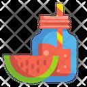 Watermelon Juice Drink Icon