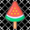 Watermelon Lolly Popsicle Ice Cream Icon