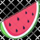 Watermelon Piece Healthy Food Organic Fruit Icon