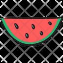 Watermelon Tropical Fruit Watermelon Slice Icon