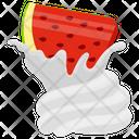 Watermelon Whip Whipped Watermelon Whipped Cream Icon