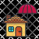 Umbrella House Waterproof Icon