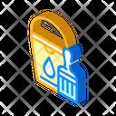 Bucket Brush Isometric Icon