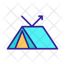 Waterproof Tent Icon