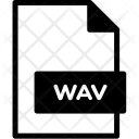 Wav Format Document Icon