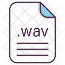 Wav Music File Icon