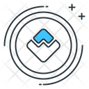 Wave Altcoin Digital Icon