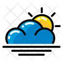 Weather Wave Sun Icon