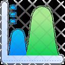 Wave Graph Wave Chart Analytics Icon