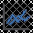 Wave Graph Line Graph Trading Graph Icon