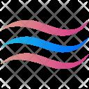 Waves Logogram Shape Icon