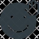 Waving Emoji Face Icon