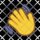 Waving Hand Gesture Icon