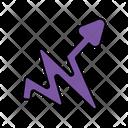 Wavy Right Arrow Icon