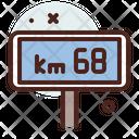 Waypoint Speed Limit Km Speed Limit Icon