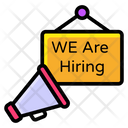 We Are Hiring Job Advertisement Talent Search Icon