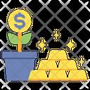 Wealth Bars Gold Icon