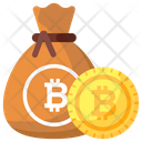 Saving Money Sack Bitcoin Sack Icon