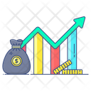 Wealth Management Financial Chart Data Analytics Icon