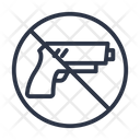 Weapon Guns Prohibited Icon