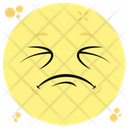 Weary Emoji Emoticon Exhausted Emotion Icon