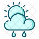 Weather Sunny And Rainy Weather Cloud Icon